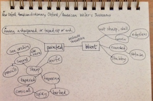 pointed & blunt mind map